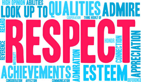 Respect word cloud on a white background. Illusztráció