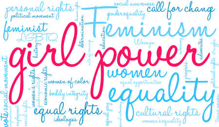 Girl Power word cloud on a white background. Stockfoto - 130731647