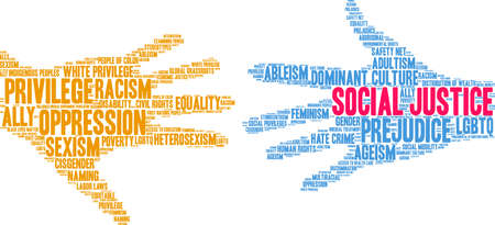 Social Justice word cloud on a white background. Stockfoto - 130731742
