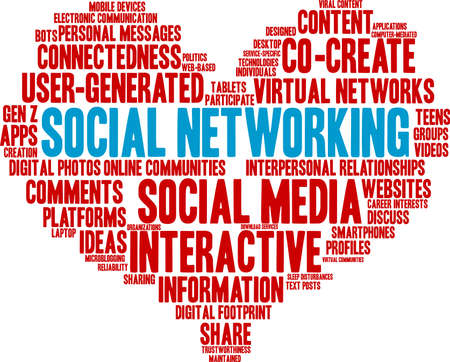 Social Networking word cloud on a white background.