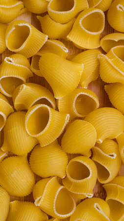 Fresh pasta background typical of italian cuisine and mediterranean diet Stock Photo