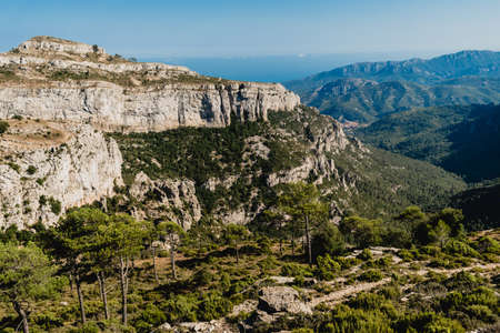 Landscapes of the set of mountains of Spain, in Catalonia.