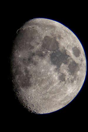 Crescent moon seen from a telescope Stock fotó