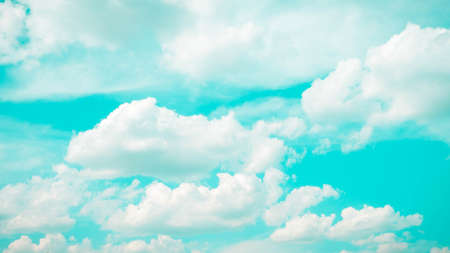 Beautiful sky, fluffy clouds, colorful sky close-up, photo wallpaper.