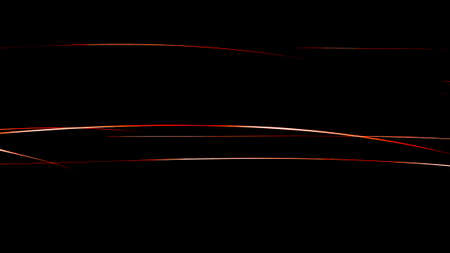 Abstract wavy lines on a black background, computer graphics. Standard-Bild - 157138003