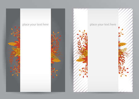fall colors: Vector set of colorful autumn Illustration