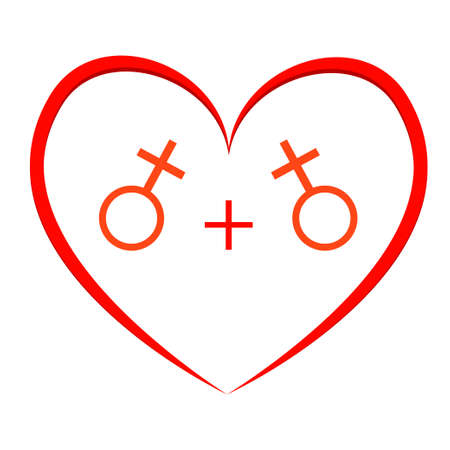 sex discrimination: Gay couple, gay love icons set Illustration