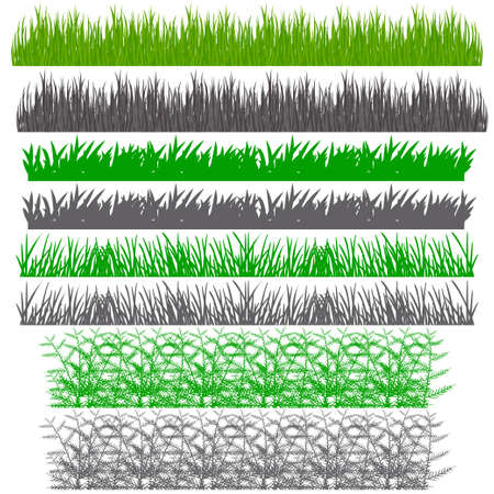 grass blades: vector illustration. The background with the ability to edit