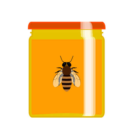 apiculture: Honey natural healthy food production. Apiary vector symbols. Illustration