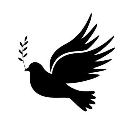 paz mundial: ilustración vectorial simple de un símbolo de la paz con la posibilidad de editar