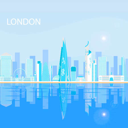 One of the largest and most interesting cities in Europe. Urban landscape and the tallest buildings in London.