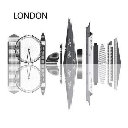 london night: One of the largest and most interesting cities in Europe. Urban landscape and the tallest buildings in London.