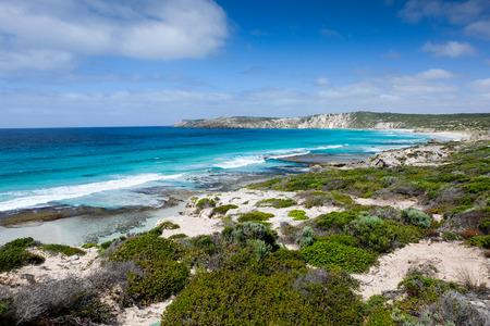 View of beach from kangaroo island australia Stock Photo