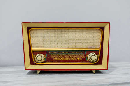 general plan of an old radio of the last century Stock Photo