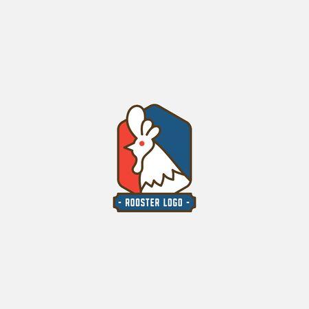 Chicken logo, Fried chicken restaurant, Rooster mascot, chicken farm and egg vector illustration. Vettoriali