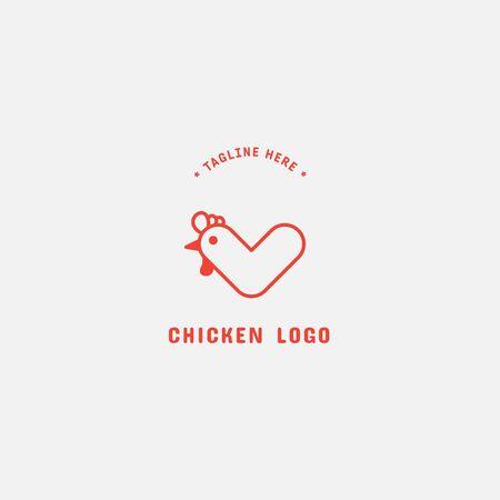 Chicken logo, Fried chicken restaurant, Rooster mascot, chicken farm and egg vector illustration. 版權商用圖片 - 150147120