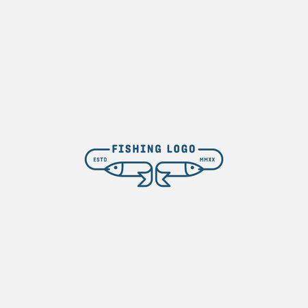 fish logo vector illustration, fish market logo, fish guard logo, fish contest, seafood label and badge Stock fotó - 150341780