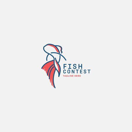 fish logo vector illustration, fish market logo, fish guard logo, fish contest, seafood label and badge Stock fotó - 150341807