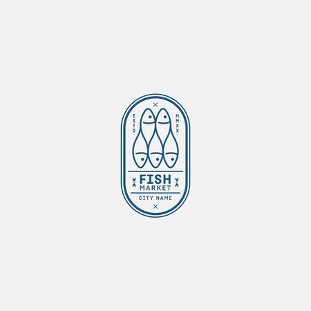 fish logo vector illustration, fish market logo, fish guard logo, fish contest, seafood label and badge Stock fotó - 150341849