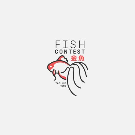 fish logo, fish market logo, fish contest, goldfish contest, seafood label and badge, vector illustration. translation Stock fotó - 150341852