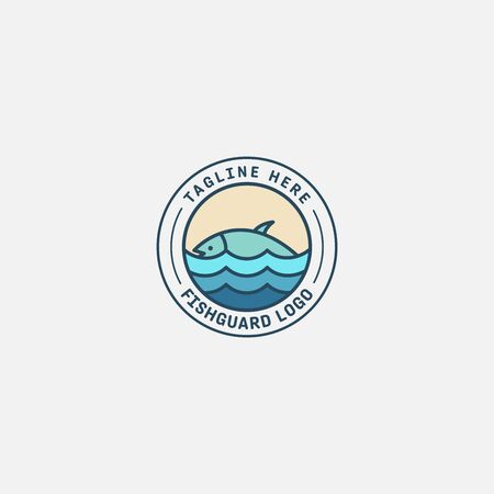 fish logo vector illustration, fish market logo, fish guard logo, fish contest, seafood label and badge Stock fotó - 150341853