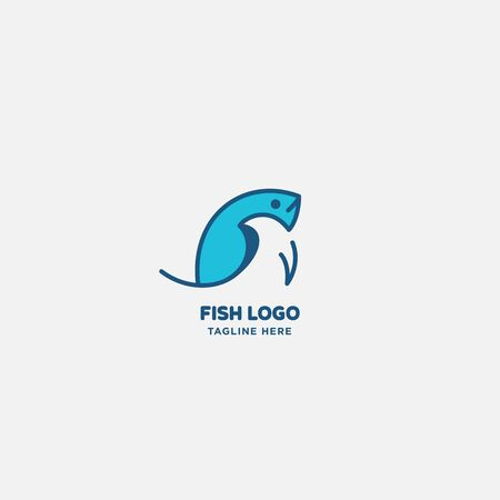 fish logo vector illustration, fish market logo, fish guard logo, fish contest, seafood label and badge Stock fotó - 150341899