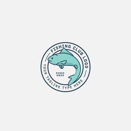 fish logo vector illustration, fish market logo, fish guard logo, fish contest, seafood label and badge Stock fotó - 150341913