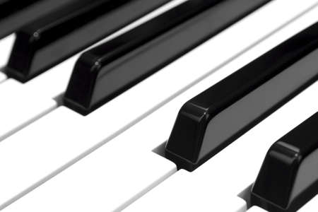 Detail of black and white keys of a piano electric