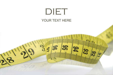 Tape measure to take measures such as the waist of a woman  Normally associated with the fact of dieting to lose weight