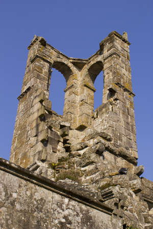 old ruined tower belonging to a fifteenth century church