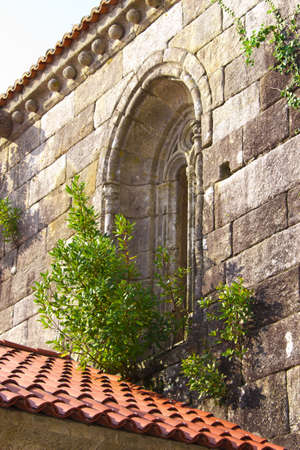 old exterior window of a fifteenth century church