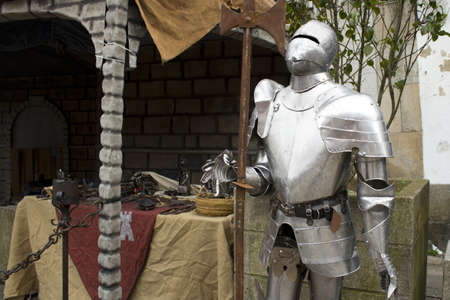 Armor that you could see in the Medieval fair on June 9, 2012 in the town of Lalin, Spain.