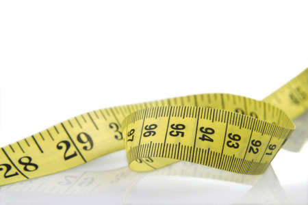 Tape measure to take measures such as the waist of a woman. Normally associated with the fact of dieting to lose weight.