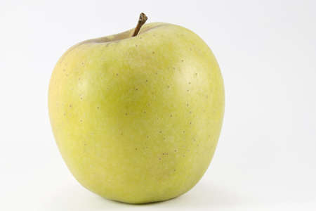 Picture of an apple on a white background
