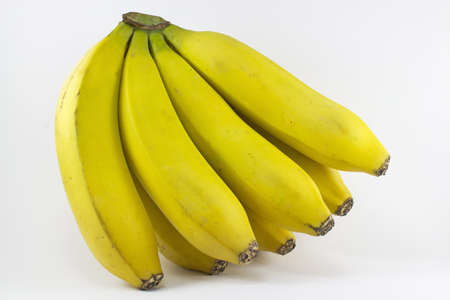 Picture of a bunch of bananas on a white background  Stock Photo