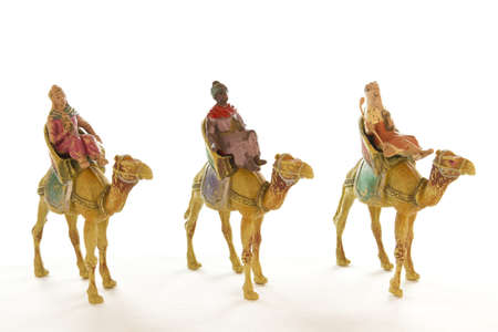melchor: Picture of the three wise men on a white background.