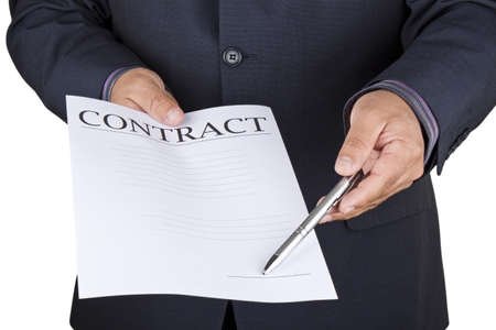 Picture of a man offering a contract to sign Stock Photo - 16724946