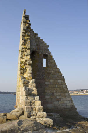 Photograph of a ruined tower called San Sadurnino in Galicia, Spain