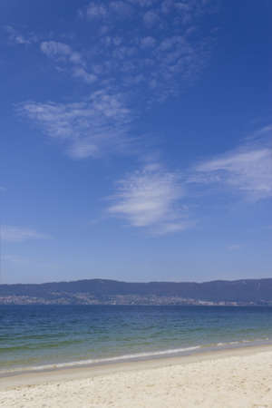 Picture of a beautiful beach in a sunny day in Pontevedra, Spain.