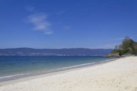 Picture of a seashore on the mountain in Pontevedra, Spain. Stock Photo