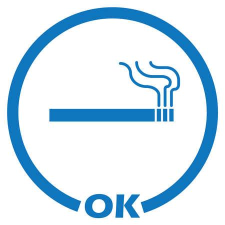 permit smoking area Vector