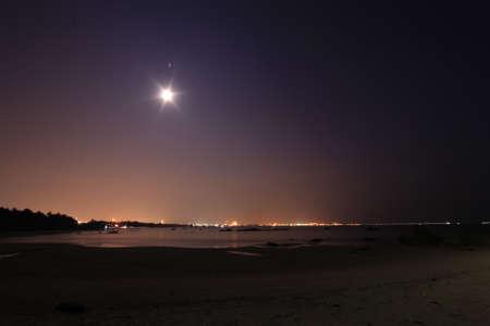The night Namrin Beach, Rayong, Thailand