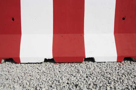 red and white colour concrete