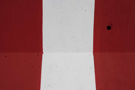 red and white concrete