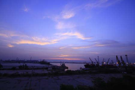 dawning: the sunrise at harbor