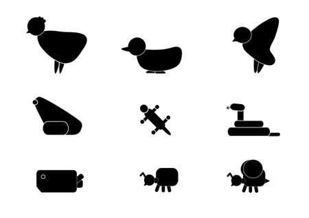 nine animal logo Stock Vector - 17251596