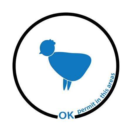chicken permit tag Stock Vector - 17251616