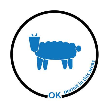 goat permit tag Stock Vector - 17251626