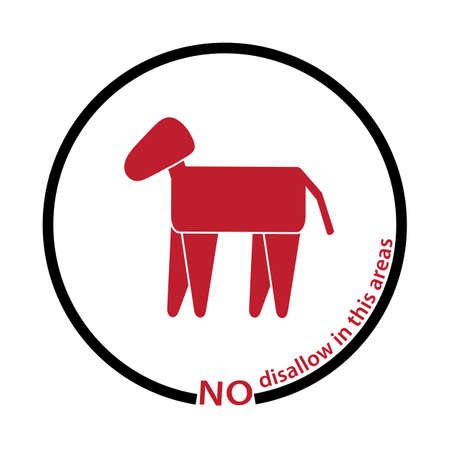 disallow: horse disallow tag Illustration