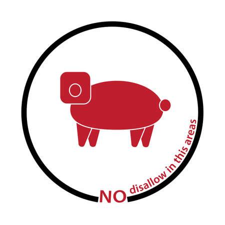 disallow: pig disallow tag Illustration